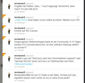 Screenshot von twitter.com 21.11.2011 01:18 Uhr MEZ ; Account: reviewer2