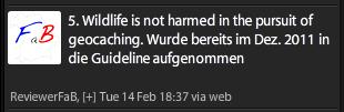 Twitternachricht von Reviewer FaB (Fritz aus Bayern)