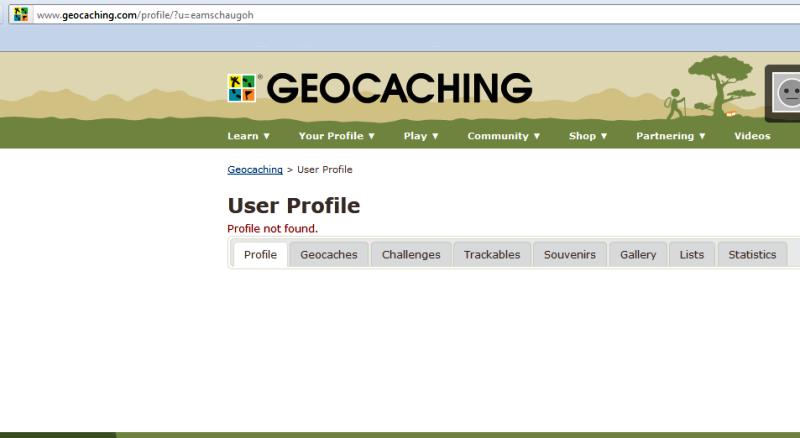 Profil not found - eamschaugoh / geocaching.com