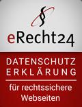 Siegel erecht24 Datenschutz