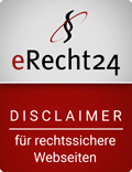 Siegel erecht24 Disclaimer